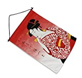 Japan Bandera de restaurante ese Noren Curtain - Ukiyo-e Lady