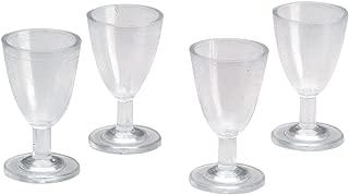 WSSROGY 24 pcs 1:12 Miniature 4PCS Miniatures Wine Glasses Plastic Red Wine Cups Dollhouse Kitchen Accessories