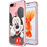 "Logee Mickey Mouse TPU Cute Cartoon Clear Case for iPhone 8 Plus/7 Plus 5.5"",Fun Kawaii Animal Soft Protective Cover,Ultra-Thin Shockproof Funny Character Cases for Kids Teens Girls Boys (8Plus)"