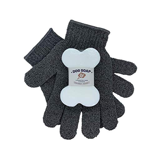 Dog Shampoo and Grooming Gloves Bundle – Dog Shampoo for Itchy Skin –...