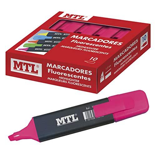 Marcadores Fluorescentes Rosa Marca MTL