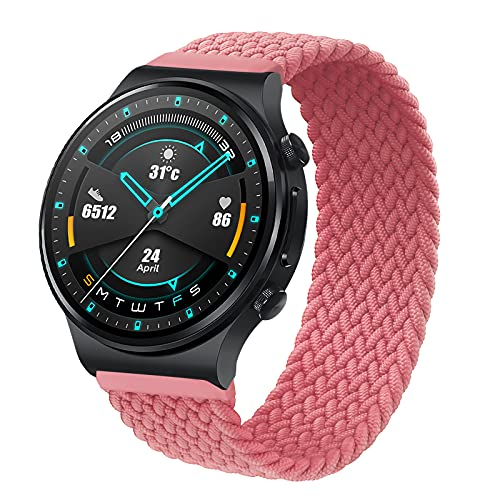 RIOROO 22mm Compatible Strap for Garmin Vívoactive 4 Straps, Compatible Bracelet for Huawei Watch GT 2 (46 mm) / Galaxy Watch 3 for Women Men Sport Elastic Woven Replacement Band (without Watch)