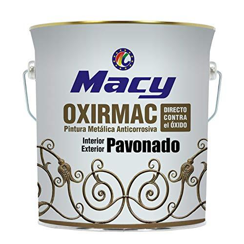Esmalte Antioxidante Oxirmac Pavonado Macy para Interior y Exterior. 750 Mililitros. Color Negro