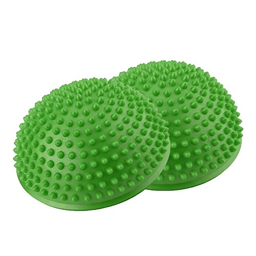Wakects Piłki do masażu stóp, piłka do masażu z PCW, nadmuchiwana, zielona