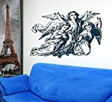Angels Wings Deity Manito Godhead Kids Room Children Stylish Wall Art Sticker Decal G7980