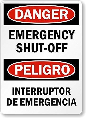 Cartel de estaño para pared de metal, decoración de emergencia, interruptor de emergencia, letreros de metal HDPE, 30,5 x 40,6 cm