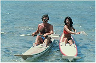 Magnum P.I. Tom Selleck as Magnum with Erin Gray as Joy 'Digger' Doylekayaking 8 x 10 Inch Photo