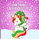 Unicornio Calendario 2021: Calendario De Pared De Unicornio Cuadrado De 12 Meses Con Adorables Ilustraciones De Unicornios: Linda Idea De Regalo De Navidad Para Niñas Y Niños