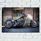 Aawmju 1000 compresse per Adulti Chopper Motocicletta Motocicletta Puzzle di Legno Esercizio Cervello Sfida Bambini Giochi Difficili Regalo Bambini 50x75cm