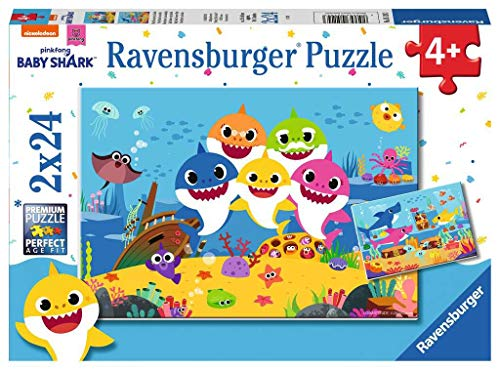 Ravensburger Puzzle Baby Shark Puzzle 2x24 pz Puzzle per Bambini