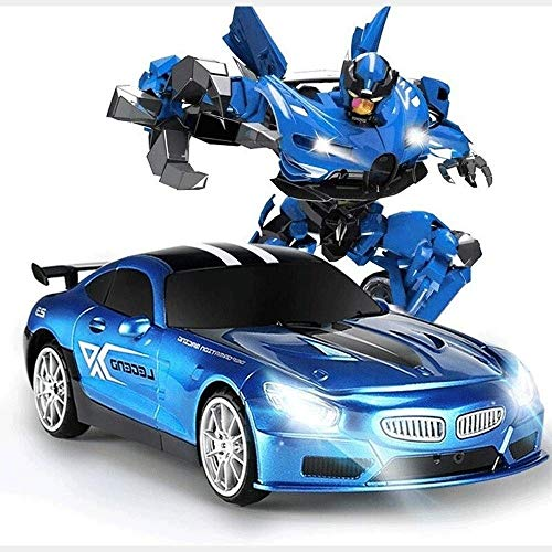 Great Features Of Woote RC Toy Car Children's Birthday Gifts One Button Deformed Autobot ABS Stunt C...