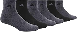 adidas mens Athletic Cushioned Quarter Sock (6-Pair)