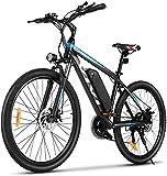 VIVI Bicicleta Eléctrica, 26'/27,5 ' Bicicleta Montaña Adulto, Bicicleta Electrica Montaña, 350W Bicicletas Eléctricas con Batería De Iones De Litio Extraíble De 10,4 Ah, Engranajes De 21 Velocidades