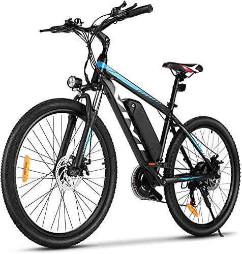 """VIVI Bici Elettrica, 26''/27,5"""" Bicicletta Mountain Bike, 350W Bicicletta Elettrica Pedalata Assistita Per Uomo e Donna Con Batteria Agli Ioni Di Litio Rimovibile Da 10,4 Ah, Shimano 21 Velocità"""