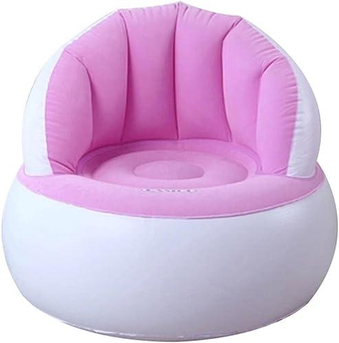 ZLL-Matelas pneumatique Sofa Gonflable De Chaise d'air De Sofa Gonflable De Siège Sofa élégant d'air Imperméable De Conception 94  83  76cm (Couleur  Rose)