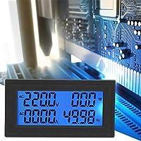 デジタル表示、0〜20A 60〜500Vが付いている多機能ACアンペアメーターの電圧計