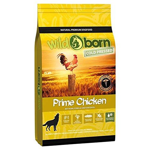WILDBORN kaltgepresstes Hundefutter PRIME Chicken 15 kg - Hundefutter kaltgepresst mit viel frischem Hühnchenfleisch | Hundefutter kaltgepresst getreidefrei