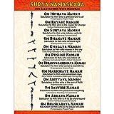 The Mindful Word Surya Namaskara Poster - Sun Salutations