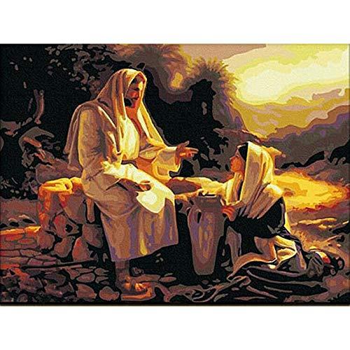 Kit de pintura de diamante para adultos, cristiano, religioso, hijo de Jesús, misionero, 5D, kit de pintura de diamante, bordado de artes y decoración del hogar