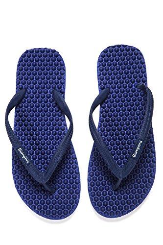 Paraurti Sandali acupressioni da uomo - Pavimenti riflessologici con design confortevole e sola suola (taglia 41-42, navy)