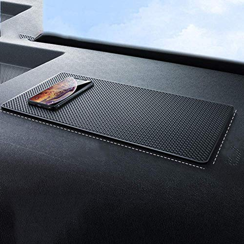 Super Sticky - Alfombrilla antideslizante para coche, 40 x 20 cm, resistente al calor, no resbaladiza, alfombrilla para salpicadero de coche, almohadillas adhesivas (extragrande)