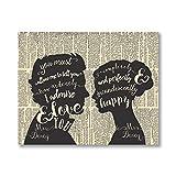Stolz und Vorurteil Zitat Kunstdrucke Poster Romantische