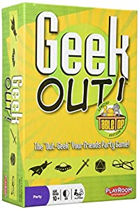For 2 or more players 30 minute playing time Geek out! party game - limited tabletop edition (2015) 205 cards, bonus mini deck, 20 penalty chips