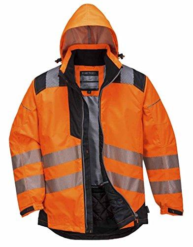 Portwest T400OBR4XL Vision Hi-Vis Regenjas, 4X-groot, Oranje/Zwart