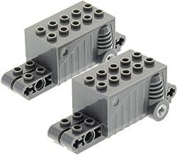 1 x Lego System Rückzieh Motor schwarz alt-hell grau 6 x 2 x 1 1//3 Aufziehmotor