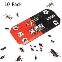 OurLeeme 10Pcs Cucaracha Cucaracha Casa Trampa Repelente Killing Trampa Cebo pegajoso Fuerte del colector de trampas para Insectos de Control de plagas