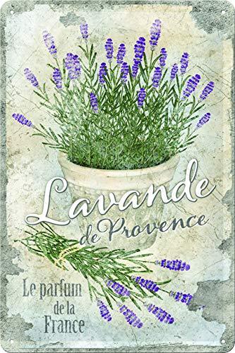 Nostalgic-Art Targa Vintage Home & Country – Lavande de Provence – Idea Regalo per la...