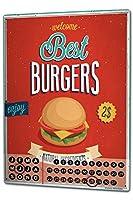カレンダー Perpetual Calendar Food Restaurant best burger Tin Metal Magnetic