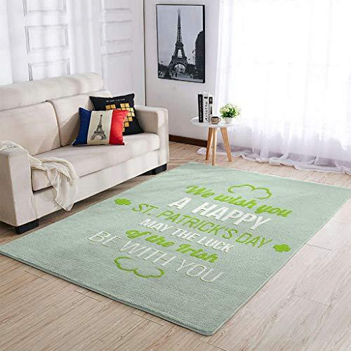 O5KFD&8 Alfombras suaves de San Patricio es Day para interiores y salones, para dormitorio o cama, color blanco, 122 x 183 cm