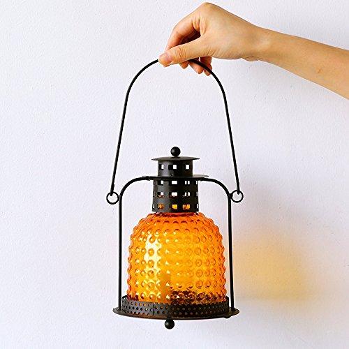KMYX Romantique Fer Style Marocain Petite Bougie Lanterne Rétro Arts Bougeoir De Noël Bougeoir Lampe Bougeoir Lumière pour la Fête De Mariage ou Festival Décoration (Color : Style I)