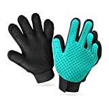 YWD Pet Grooming Glove Hair Remover Brush Hair Removal Gloves-Efficient Pet Hair Removal Set-Easily Groom Long Hair and Short Hair of Cats and Dogs (1 Pair(Green))