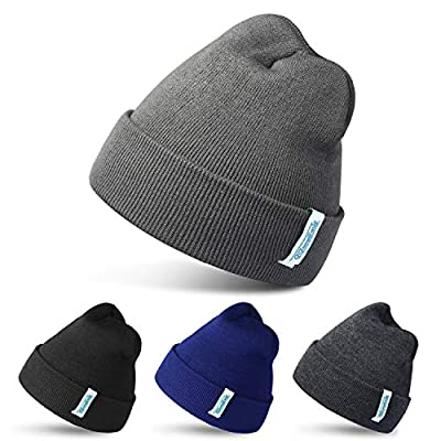 Amazon - Save 50%: RUN BRAIN GO 4 Pack Beanies Winter Hats Warm Knitted Cap for Men & W…
