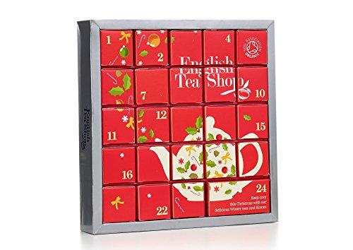 """English Tea Shop - Tee Adventskalender \""""Pink Christmas\"""", 24 einzelne Boxen mit würzigen BIO-Tees in hochwertigen Pyramiden-Teebeutel"""