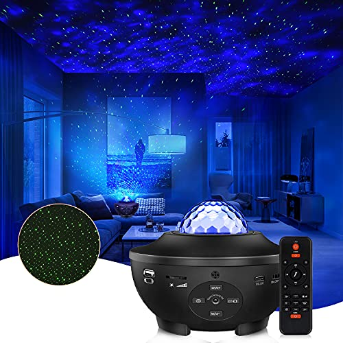 Star Projector Galaxy Star Lights Projector Night Light Projector for Bedroom 10 Colors Ambiance with Bluetooth Music Speaker for Kids Adult Rooms Birthday Deeply Sleep Bedroom Party