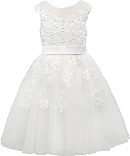 26a09f87a9f Miama Champagne Lace Tulle Wedding Flower Girl Dress Junior Bridesmaid Dress