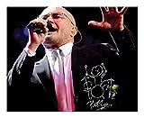 ES Phil Collins Autogramme Signiert 21cm x 29.7cm Foto