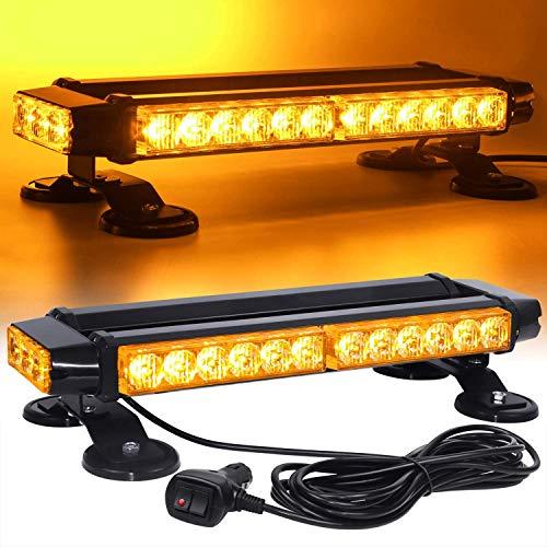 N \ A Luz Intermitente estroboscópica LED, ámbar de Doble Cara, 30 LED de Alta Intensidad, Barra de iluminación de Advertencia de Peligro de Emergencia/baliza/con magnético para la Seguridad
