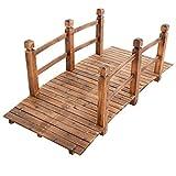 DREAMADE Holzbrücke für Garten/Dekoration, Teichbrücke aus massivem Holz, Dekobrücke Zierbrücke...