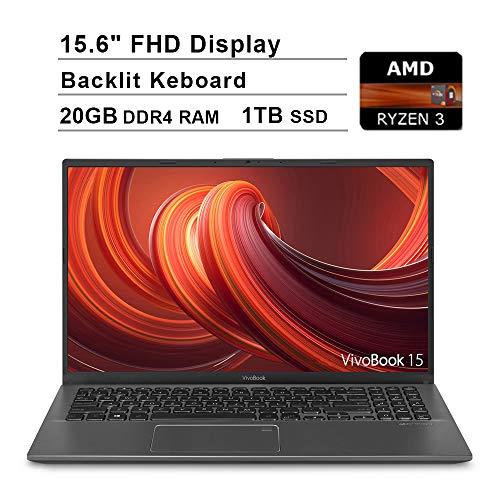 2020 NexiGo Upgraded ASUS VivoBook 15.6 Inch FHD 1080P Business Laptop  AMD Ryzen 3 3200U up to 3.5GHz  20GB DDR4 RAM  1TB SSD  AMD Radeon Vega 3  Backlit KB  FP Reader  WiFi  HDMI  Win 10 Home  Grey