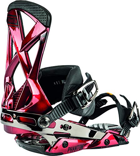 Nitro Snowboards Herren Phantom '20 All Mountain Freeride Freestyle Premium Bindung Snowboardbindung, Candy Apple, L
