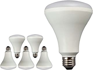TCP 11W LED (65W Equivalent LED BR30 Flood Light Bulbs, Non-Dimmable, Daylight (5000 Kelvin) (6 Pack)
