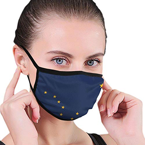 Flag of Alaska-Ak Unisex Windproof and Dustproof Mouth Mask,Face Cover with Adjustable Elastic Strap