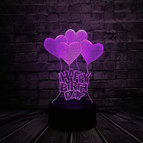 Verlichting decoratie in huis nachtlampje romantische liefde hart ballon 3D LED USB-lamp huwelijksaanzoek huwelijksaanzoek huwelijk huis decoratie kleurrijk nachtlampje geschenk gadget met afstandsbedi
