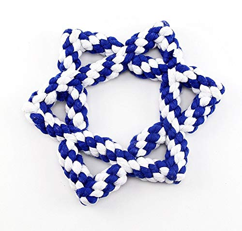 "Midlee Hanukkah Star of David 6.5"" Rope Dog Toy"