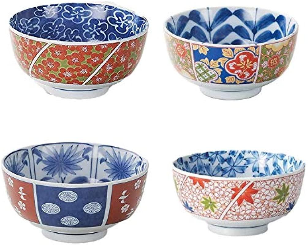 Japanese Ceramic 5 51 Diam Large Rice Bowl Donburi Soup Noodle Or Serving Bowl Set Of 4
