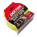 DEKTON DT90861 - Cinta adhesiva fluorescente (50 mm x 8 m), color amarillo